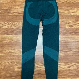Small Green/Black PINK Workout Leggings